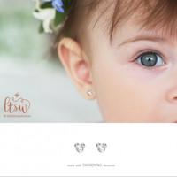 littlethingshewear mickey swarovski earring/ anting anak ASLI