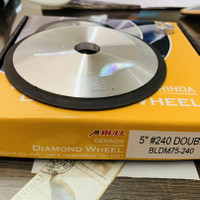 Ylw diamond wheel Bull double side 5 inch gret 240 asah mata ketam tct
