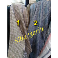 Kain Blazer/Celana Semi Wool Motif Kotak _ Bahan kain Semi Wool