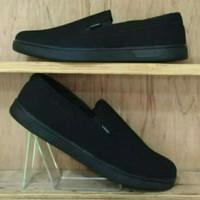 sepatu van's replika murah sekolah sepatu santai full Black