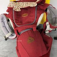 i-Angel Hello Melange Red (iangel hip seat) gendongan baby carrier