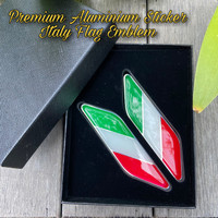 premium sticker motor vespa ducati mobil itali italy emblem almunium
