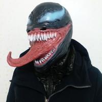 TOL-19 topeng latex karet full head kepala mainan prank monster venom