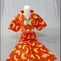 baju tudur set piyama pendek banana