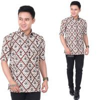 Baju Batik Original Lengan Pendek Pria Garuda