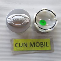 Dop roda velg Datsun Go, Go Panca warna silver DL 54 mm DD 48 mm