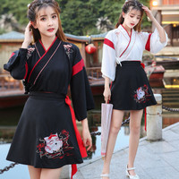 CC-130 hanfu unisex wanita baju tradisional cina han cosplay kostum