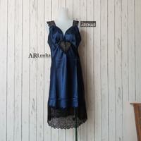 K21206 Sexy Lingerie Navy Dress - Baju Tidur Tipis Transparan Wanita