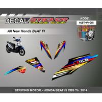 STIKER MOTOR HONDA BEAT FI 2017 DECAL STRIPING MOTIF VARIASI RACING