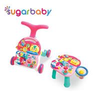 Sugar Baby 10IN1 Premium Activity Walker & Table - Parrot Basketball - Merah Muda