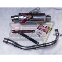 Knalpot Best3 Honda Scoopy Beat Genio Short - Bulat, Inlet50