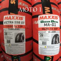 BAN MAXXIS GREEN DEVIL 90/80-14 DAN VICTRA 110/80-14 TUBELESS