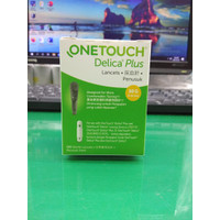 ONE TOUCH DELICA PLUS LANCETS PENUSUK 30g 0.32 mm ISI 100 STERILE LANC