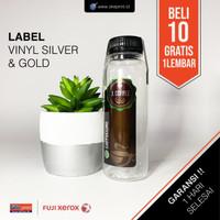 Cetak Stiker Label Vinyl GOLD & SILVER A3+ CUT / Cetak Label Kemasan