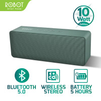 Speaker Bluetooth Robot RB420 Version 10 Watt Portable Wireless Bass - Hijau