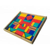Mainan Kayu Edukasi Anak - City Block 48C (Balok Bangun Kayu)