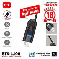 PX BTX-1100 USB Bluetooth Audio Transmitter Tanpa Driver 5.0 HD stereo