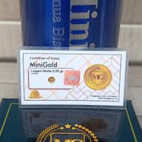 Minigold Emas Mini logam Mulia 0,05