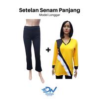 Setelan baju senam olahraga wanita |setelan baju senam panjang cewek - S