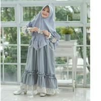 CHACHA SYARI KIDS Baju Muslim Gamis Anak Perempuan Usia 8 - 11 Tahun