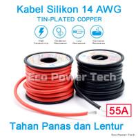 Kabel Silikon 14AWG MERAH & HITAM 14 AWG Lentur Tahan Suhu Panas 200c