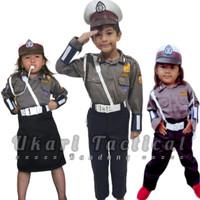 Kostum karnaval profesi anak pocil baju polisi kecil tni au dan pilot