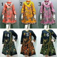 baju batik wanita batik wanita tunik jumbo batik katun unggul Jaya