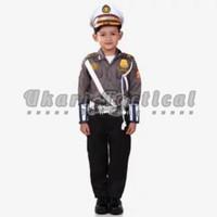 seragam kostum karnaval profesi pocil anak baju polisi kecil