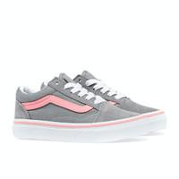 Sepatu Anak Vans Kids Oldskool Grey Pink Original