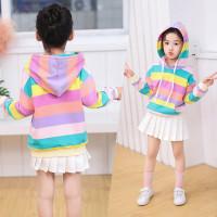 RAINBOW SWEATER atasan baju anak perempuan hoodie lengan panjang impor