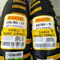 Ban motor Sport Pirelli Diablo Rosso Corsa II 90/80-17 & 100/80-17