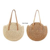 Tas Anyaman Pantai Tas Rajut Handmade Straw Shoulder Bag