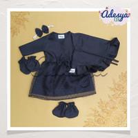 Baju muslim bayi perempuan/gamis newborn Navy