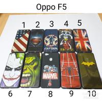 Case Hitam Superhero Oppo F5 / Soft Case Oppo F5