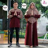 Baju Couple Pasangan Gamis syari asdf Set Baju Muslim Couple Murah Har
