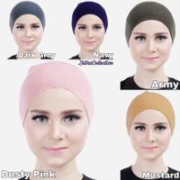 Ciput Inner Bandana Hijab Rajut Polos Tidak Panas Dan Nyaman