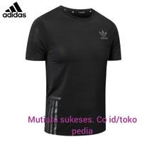 kaos running baju gym fintest slimfit elastic procombat import adidas