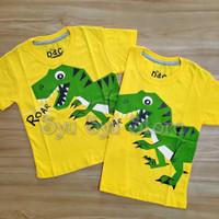 Baju Kaos Atasan Anak Laki Laki Cowok Trex Dinosaurus Dino Kuning