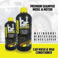 Maxglow shampoo wash & wax conditioner premium mobil & motor - 500 ml
