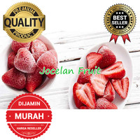 100% TERMURAH 1kg Buah Stroberi Beku Super Strawberry Frozen