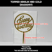 topper+arkilik+happy birthday+bulat+emas+sambung+tusukan+kue+bento