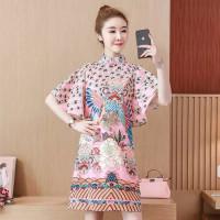 Dress Cheongsam Import Baju Imlek Merak Sincia CNY Cina Jumbo Big Size