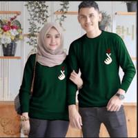 Couple sarangheo hijau baju remaja pasangan kaos couple sad vt