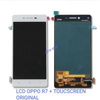LCD OPPO R7 R7F FULLSET + TOUCHSCREEN ORIGINAL 100% - Putih