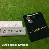 kaos cowok spandex emboss giordano uk allsize fit to L