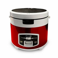 Denpoo Rice Cooker DMJ 99 RED Stainless Steel 1.8L 3in1
