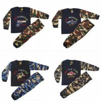 Setelan Baju Anak Laki 0-9th Lengan Panjang Army Tentara / Kaos Anak