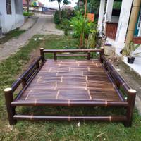 Bale Bambu Hitam P150 x L200 cm Model Dipan