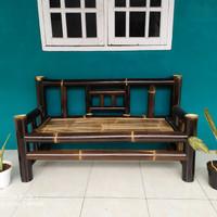 Kursi bambu hitam panjang