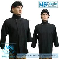 baju surjan hitam polos khas jawa